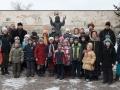 У памятника преподобному Серафиму Саровскому на территории ХПП «Софрино»