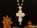 Наперстный крест вырезанный из бивня мамонта, музей ХПП «Софрино»
