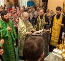 Соборование в Сергиевском храме на РКК «Энергия»