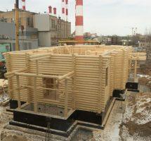 Ход строительства Сергиевского храма на РКК «Энергия» (24 марта 2016 г.)
