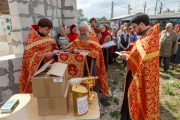 Молебен на продолжение строительства храма в Оболдино