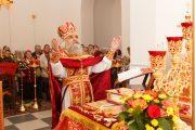 Первая литургия в Сергиевском крестильном храме в г. Королев
