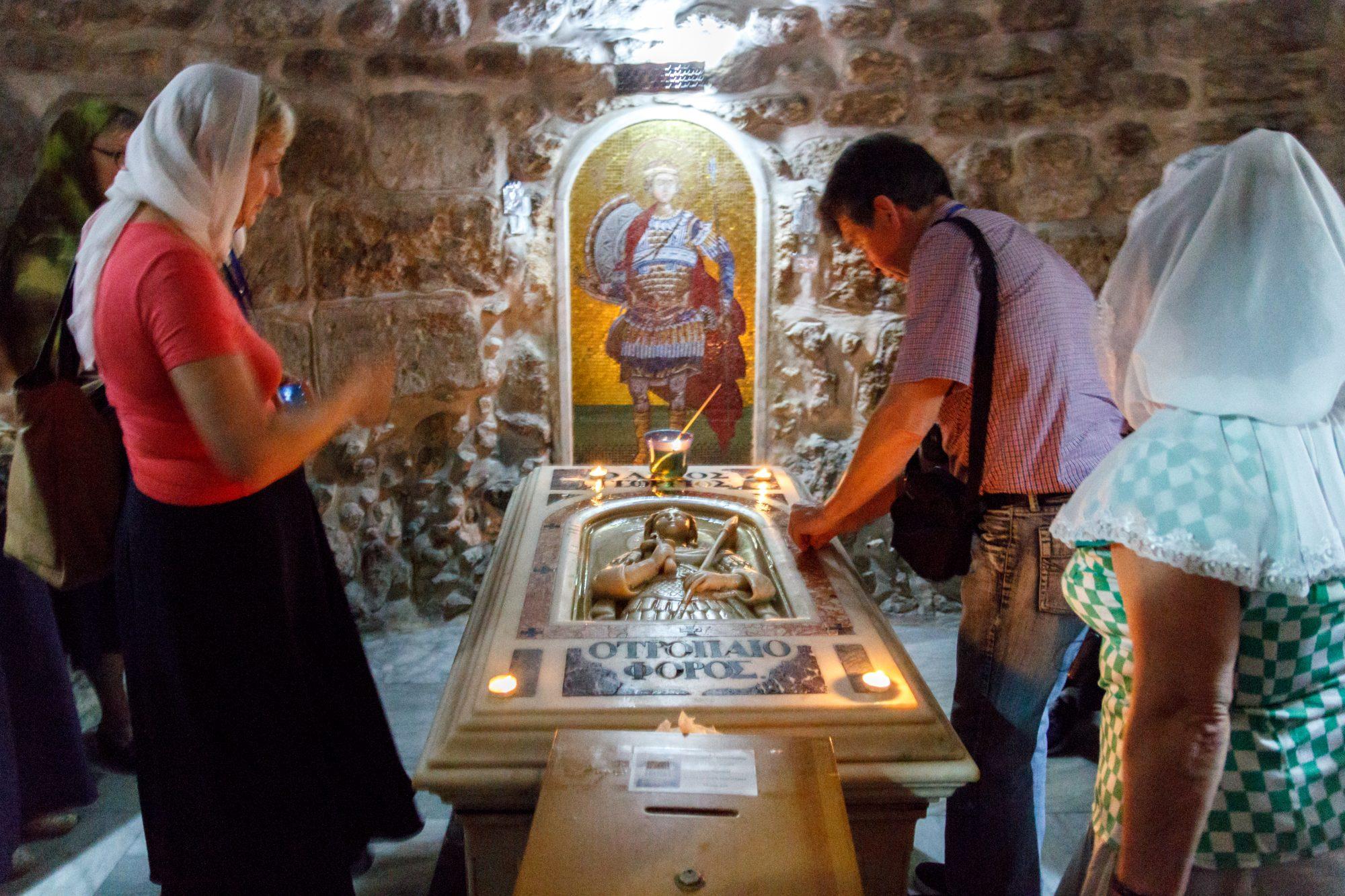 Место погребения вмч. Георгия Победоносца вЛидде