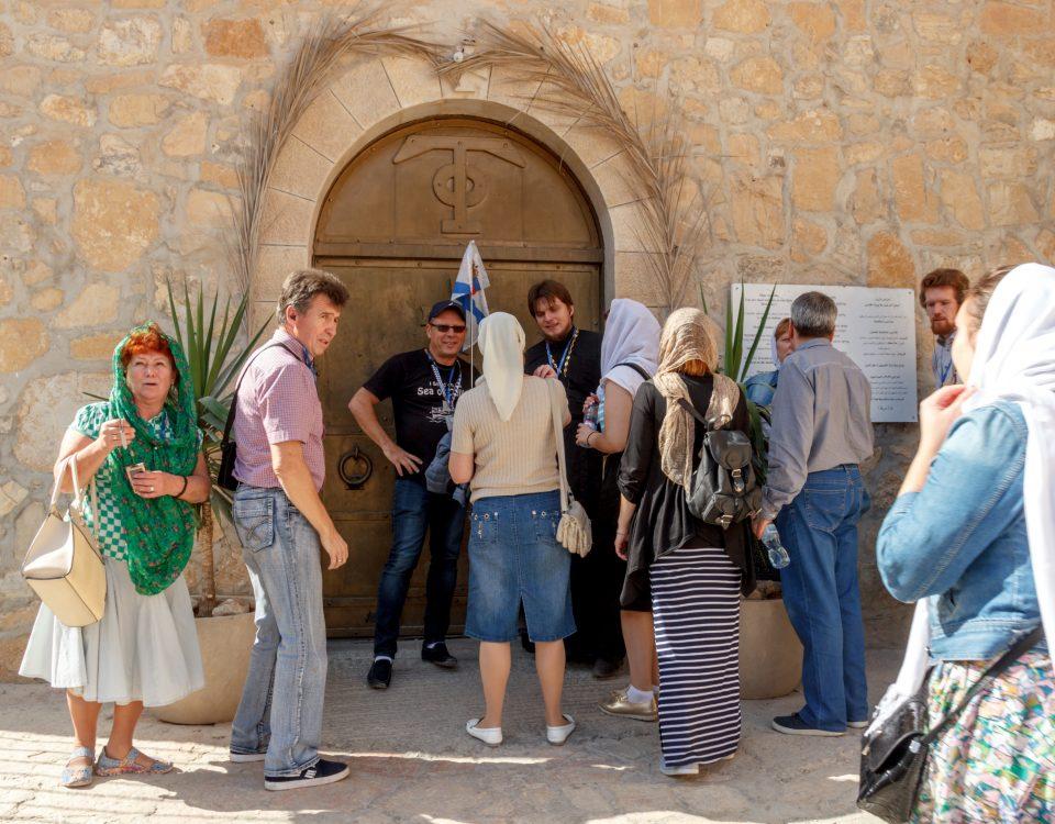 У ворот монастыря Георгия Хозевита